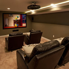 Traditional Home Theater by The Time 4 Design