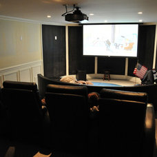 Traditional Home Theater by Woodbridge Builders
