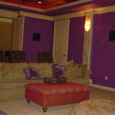 Mediterranean Home Theater by Gabay Custom Builders, INC