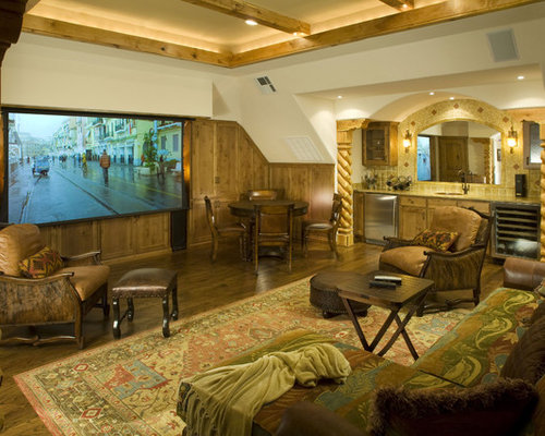 rustic dallas home theater design ideas remodels photos houzz
