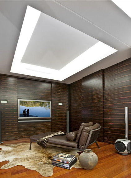 Contemporary Home Theater by Buchanan Photography