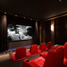 Contemporary Home Theater by Christian Grevstad Inc.