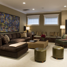 Contemporary Home Theater by jamesthomas, LLC