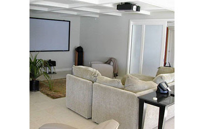 contemporary media room by Jessica Hall Associates