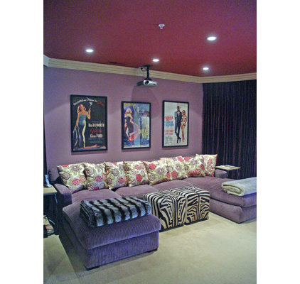 Contemporary Home Theater by Jessica Hall Associates