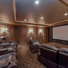 Traditional Home Theater by Sebring Services
