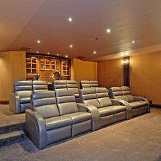 Traditional Home Theater by Joni Koenig Interiors