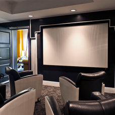 Contemporary Home Theater by Robin Wilson Interior Design