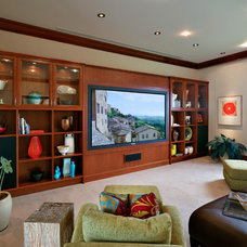Tropical Home Theater by Rick Ryniak Architects