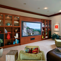 tropical media room by Rick Ryniak Architects