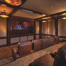 Tropical Home Theater by Renaissance Custom Builders, Inc (RCB, Inc.)