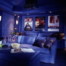 Contemporary Home Theater by KARLA TRINCANELLO-CID - INTERIOR DECISIONS, INC.