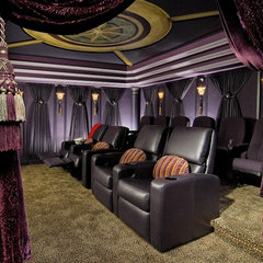traditional media room by KARLA TRINCANELLO-CID - INTERIOR DECISIONS, INC.