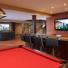 Contemporary Home Theater by Atlas Hardwood Floors Inc.