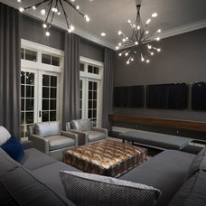 Contemporary Home Theater by Christopher Bowden Photography, LLC