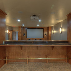 Traditional Home Theater by Rautmann Custom Homes