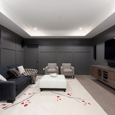 Contemporary Home Theater by Rockridge Fine Homes