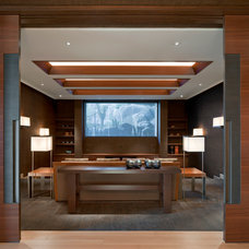 Contemporary Home Theater by AVAI