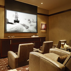 Home Theater by Knudson Interiors