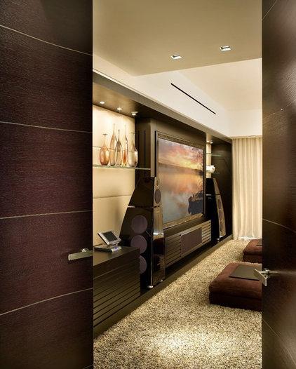 Contemporary Home Theater by Pepe Calderin Design- Modern Interior Design