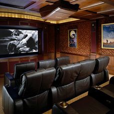 Traditional Home Theater by AMBIANCE SYSTEMS
