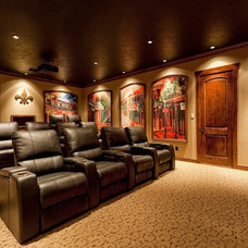 Traditional Home Theater by Mill Creek Custom Homes
