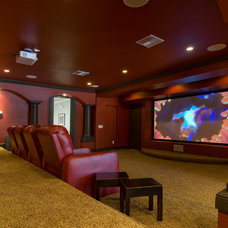 Traditional Home Theater by Gray Family Homes