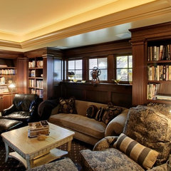 traditional media room by Laurie Kertis, Ltd., Interior Design