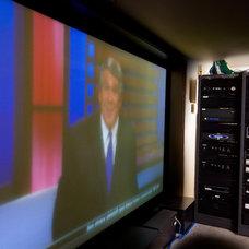 Contemporary Home Theater by Audio/Video Awakenings LLC