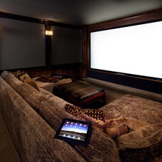 Contemporary Home Theater by Audio/Video Awakenings LLC