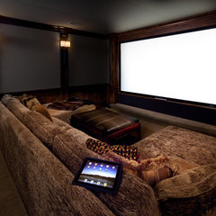 contemporary media room by Audio/Video Awakenings LLC