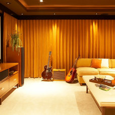 Contemporary Home Theater by Lori Dennis, ASID, LEED AP