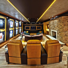 Contemporary Home Theater by Schill Architecture LLC
