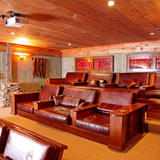 Rustic Home Theater by Appalachian Antique Hardwoods