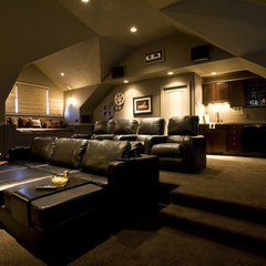 traditional media room by By Brooke, LLC
