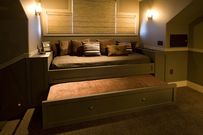 Traditional Home Theater by By Brooke, LLC
