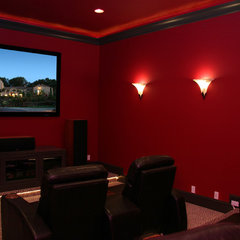 contemporary media room by Landmark Builders