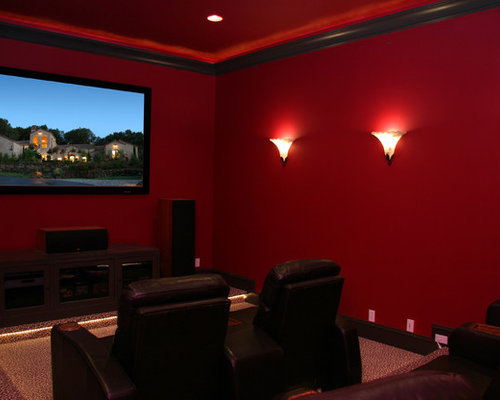 Red Wall Black Trim Home Design Ideas Pictures Remodel