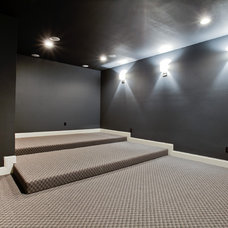 Contemporary Home Theater by New Leaf Construction