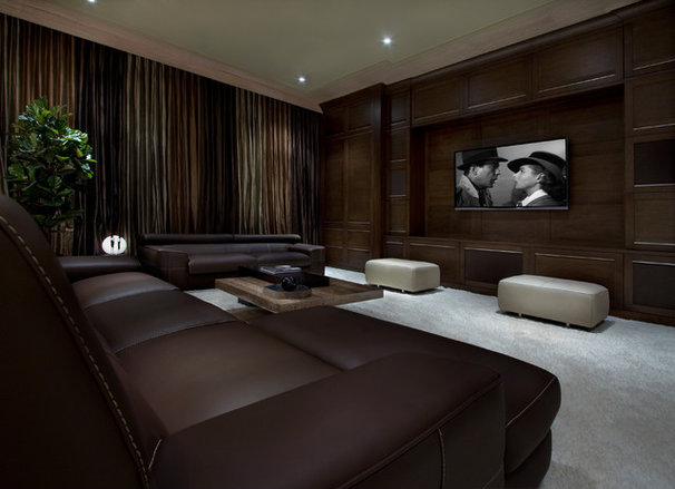 Transitional Home Theater by Storch Entertainment Systems