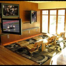 Contemporary Home Theater by Michael Fuschi Design