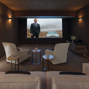 Laurel Way Modern Home Theater Los Angeles By Whipple Rus Architects