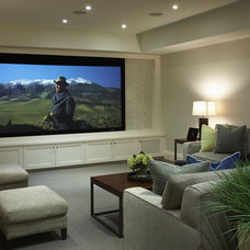 contemporary media room by Robyn Clarke + Co