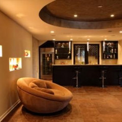 contemporary media room by Le Bam Studio/MB Design
