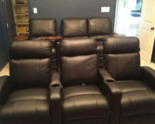 SaveEmail  Leather Custom Theater Chairs. Dallas  TX Theater Seating with Built in Riser