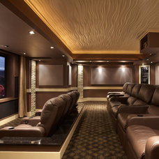 Modern Home Theater by Encore Custom Audio Video