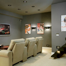 Contemporary Home Theater by American Lighting Association