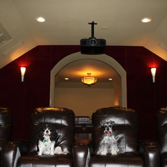 traditional media room by Caveman Home Theaters, LLC