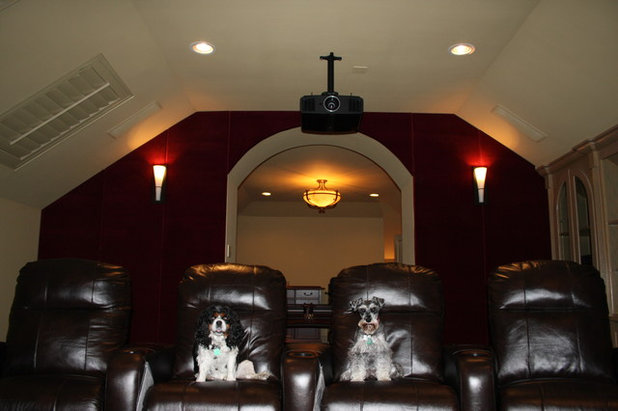 Traditional Home Theater by Caveman Home Theaters