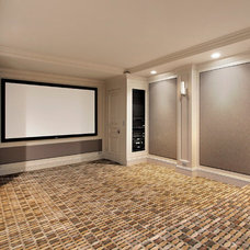 Home Theater by Heritage Luxury Builders